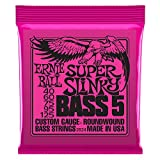Ernie Ball 5-String Super Slinky Nickel Wound Bass Set, .040 - .125