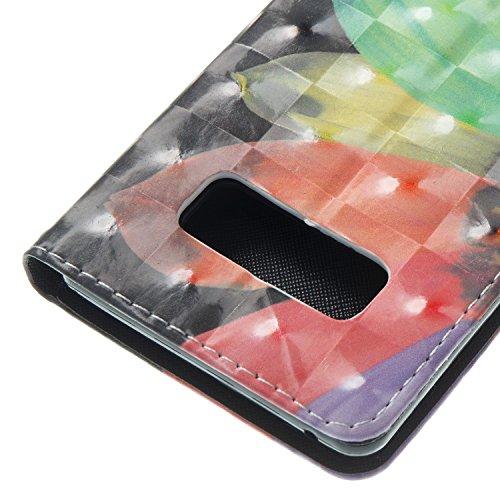 Note 8 Leder Hülle,Galaxy Note 8 Bookstyle Ledertasche, Aeeque Luxuriös 3D Glitzer Bling [einzigartig Schädel Blume Muster] Kartenfächer Standfunktion Brieftasche Handytasche für Samsung Galaxy Note 8 Bunte Muster #9
