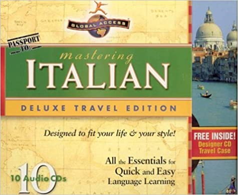 10 CDs Mastering Italian Deluxe Travel Edition All the Essentials for Quick and Easy Language Learning
