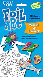 Peaceable Kingdom Sticker Crafts Make My Own Cool Stuff 3D Foil Art Stickers Kit for Kids