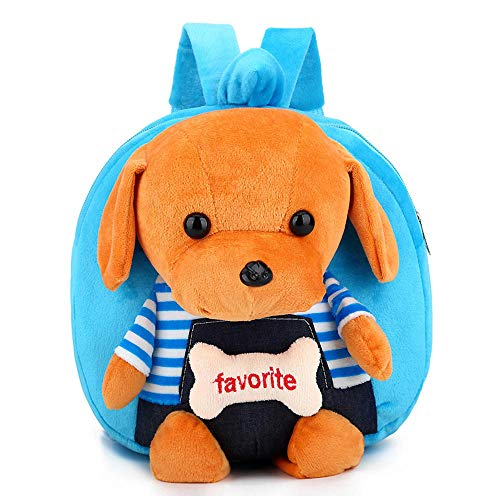 Price comparison product image Alapaste Cute Toddler Backpack Children Preschool Plush Puppy Doll Toy Backpack Mini Kindergarten School Shoulder Bags for Kids Boys and Girls