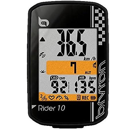 Bryton Rider 10 GPS Ciclismo, Negro, Talla Única: Amazon.es ...