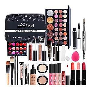 EEOO Set de Maquillaje Profesional, Kit de Inicio cosmético con Bolsa de Almacenamiento Set de Regalo de Maquillaje de… | DeHippies.com