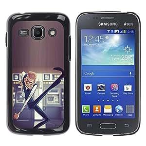 Shell-Star Arte & diseño plástico duro Fundas Cover Cubre Hard Case Cover para Samsung Galaxy Ace 3 III / GT-S7270 / GT-S7275 / GT-S7272 ( Dancing Casino Man Luck Money Lottery )