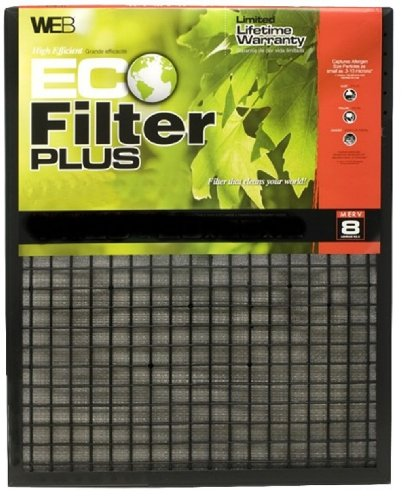 WEB Eco Filter Plus 14x25x1 Air and Furnace Filter