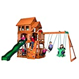 ground level deck plans Backyard Discovery Liberty II All Cedar Wood Playset Swing Set