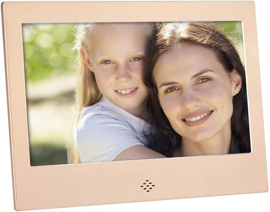 Calendar//Zoom Remote Control,Pink Video Player 7 Inch with Motion Sensor 1080P HD LCD Monitor Electronic Photo Frame Digital Photo Frame MP3
