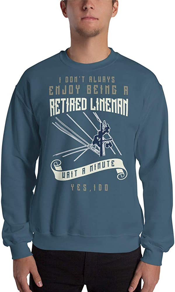 Retired Lineman Funny Electrical Retiree Unisex Sweatshirt