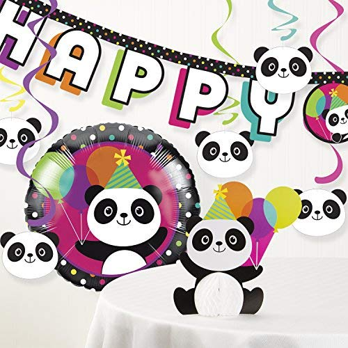 Panda Birthday Party Decorations Kit