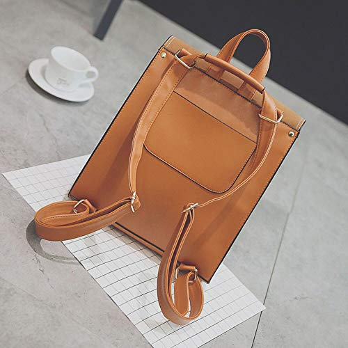 Shoulder Brown Bag Large Bag Casual College Woman Backpack Wind Wooden Ball New Simple Tassel qfwS441