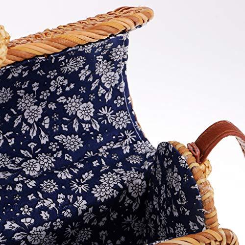 di a Tracolla Lunghezza Straw Prettyia Style Come foto Beach Bohemian Holiday 60cm maglia Rattan mostra wUOSfTq