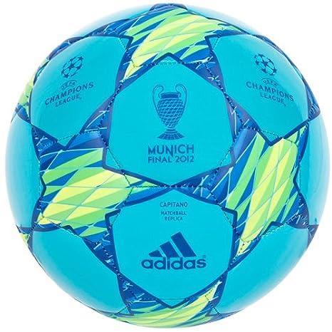 adidas - Balón de fútbol, tamaño 5 UK, color super cyan/slime ...
