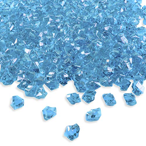 Super Z Outlet Acrylic Color Ice Rock Crystals Treasure Gems for Table Scatters, Vase Fillers, Event, Wedding, Birthday Decoration Favor, Arts & Crafts (385 Pieces) -