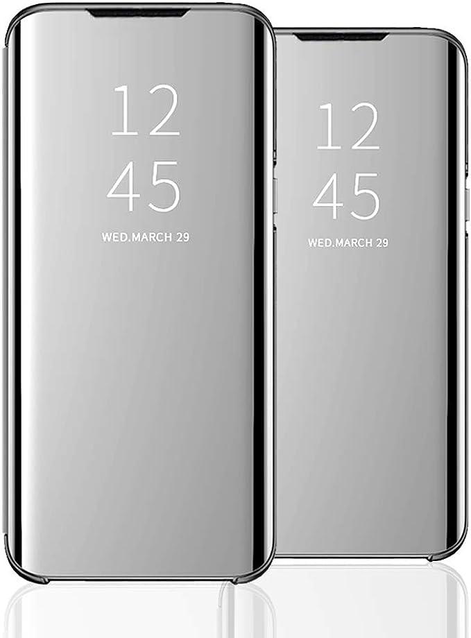 Clear View Standing Cover Für Das Samsung Galaxy S20 Plus Kompatibel Mit Galaxy S20 Plus Spiegel Handyhülle Flip Cover Schutz Tasche Mit Standfunktion 360 Grad Hülle Für Galaxy S20 Plus 1 Bekleidung