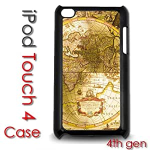 IPod Touch 4 4th gen Touch Plastic Case - Old World Maps Vintage Globe