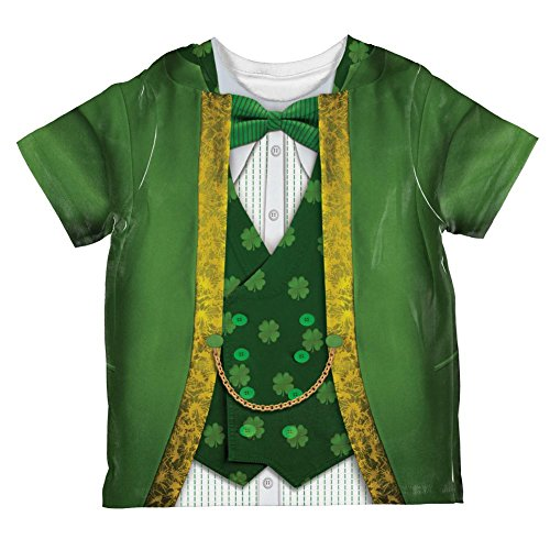 Old Glory ST Patrick's Day Leprechaun Costume All Over Toddler T Shirt Multi 6T