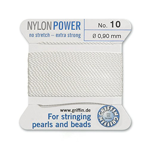 Griffin Bead Cord Nylon White #10