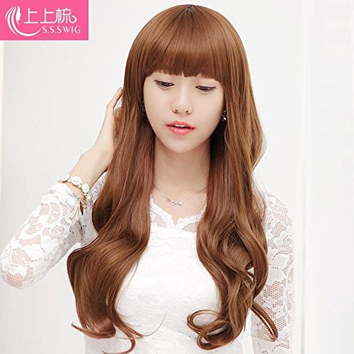 Amazon Com Ms Long Curly Hair Wig Big Wave Long Hair Qi