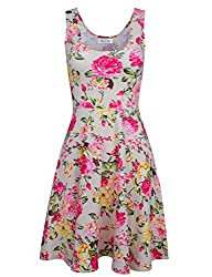 Tom's Ware Womens Casual Fit and Flare Floral Sleeveless Dress Review