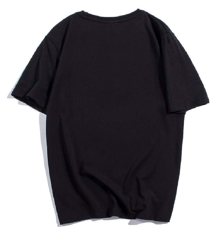 Howme Men Cotton Loose Digital Print Hip Hop Blouse T-Shirt Tops