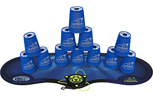 SPEED STACKS STACKit Cool Blue w/Mat by Speed Stacks