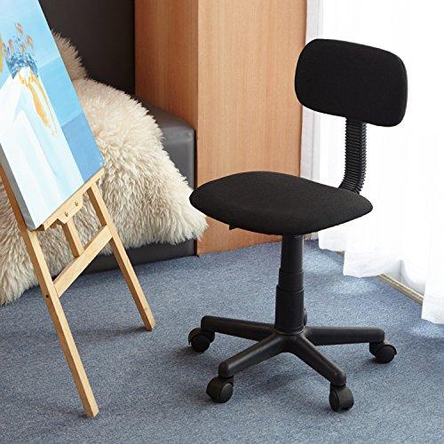 HOMY CASA Homycasa Yanyan Mesh Mid-back Executive Adjustable Computer Task Desk Office Chairs (Black) Black Kids Computer Desk