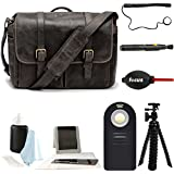 ONA Handcrafted Leather Brixton Camera Messenger Bag, Dark Truffle & Photographers Accessory Kit