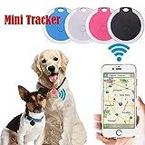 lazinem Mini Portable Round Shape Bluetooth Intelligent Anti-Lost Device GPS Tracker GPS Trackers