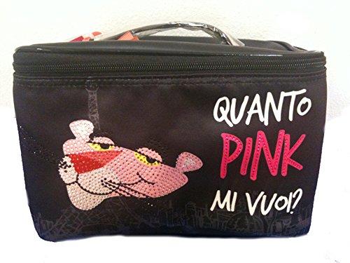 Beauty Case Organizzato Portatrucchi Pantera Rosa nero *14723