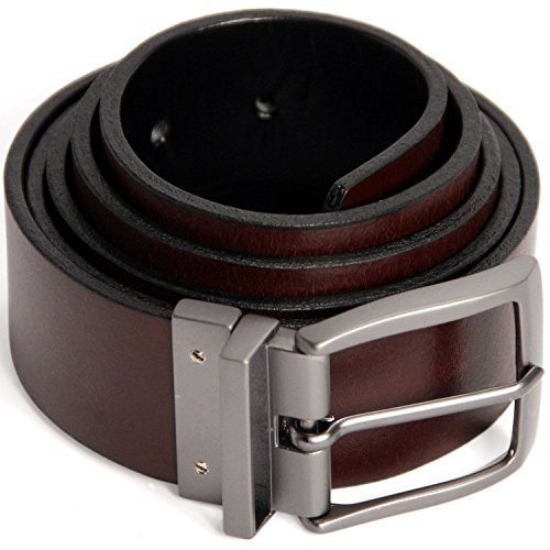 Logical Leather Reversible Men's Belt - Genuine Full Grain Leather Belt for (Jean Reversible Belt)