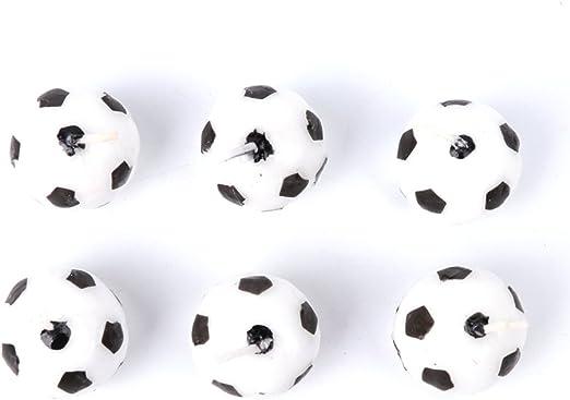 SimpleLife 6 Unidades/Set Velas de Futbol Balón de Fútbol para La ...