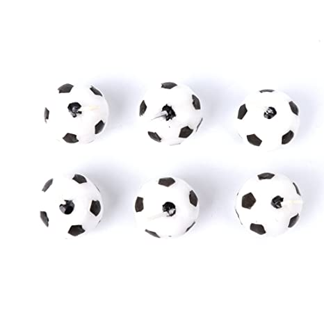 Jiamins 6 Piezas de Fútbol Velas, Fiesta de cumpleaños, Kid ...