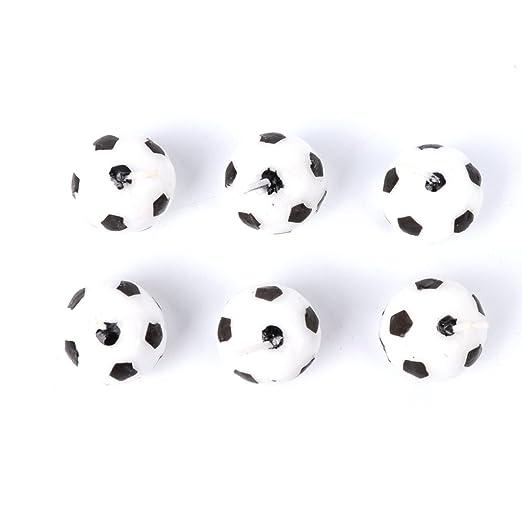 JAGETRADE Juego de 6 Velas de fútbol para Fiesta de ...