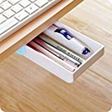 Desktop organizer Self-Stick Mechanically Pop-up Plastic Pen Pencil Sundries Office Supplies Desk Desktop Drawer Organizer Case Tray Box Holder Store for Women Men Kids Girls Boys Teens Adult