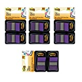 Post-it Flags, 1'', Purple, 50/Dispenser, 2 Dispensers/Pack, 4 Pack (680-PU2)