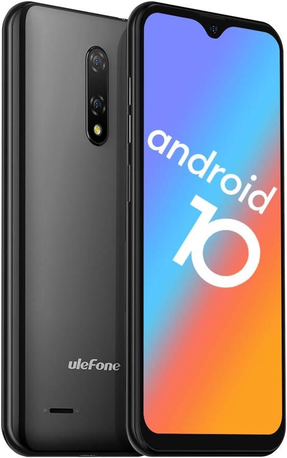 "Unlocked Smartphones, Ulefone Note 8 (2020) Android 10, Dual Sim Unlocked Cell Phones, Dual Rear Camera, Triple Card Slots, 5.5"" Waterdrop Full-Screen Phones, 2700mAh, Face Unlock, US Version - Black"