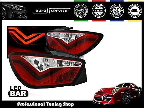 Nuevo Set Luces Traseras cola ldse21 Seat Ibiza 6J 3d 2008 2009 2010 2011 2012 LED rojo: Amazon.es: Coche y moto