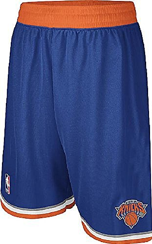 adidas New York Knicks Youth Swingman Embroidered NBA Replica Basketball Shorts (M=10-12)