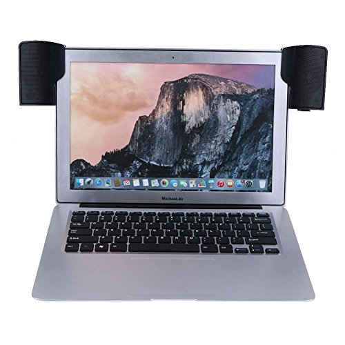 Laptop speakers usb powered clip on