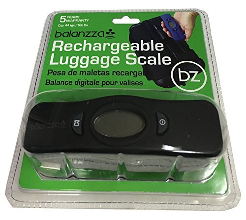 Balanzza MINI USB Rechargable Digital Luggage Scale Capacity with Backlight Display, BZ400U...