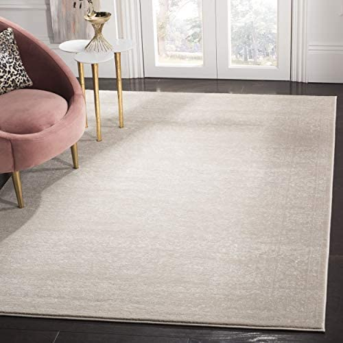 Safavieh Carnegie Collection CNG631B Vintage Light Beige and Cream Distressed Area Rug 8 x 10
