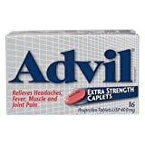 Advil Extra Strength Caplets (16 Count), 400 mg ibuprofen, Temporary Pain Reliever/Fever Reducer