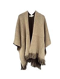 Kocome Women Blanket Oversized Scarf Wrap Long Knit Shawl Poncho Tassel Fringe