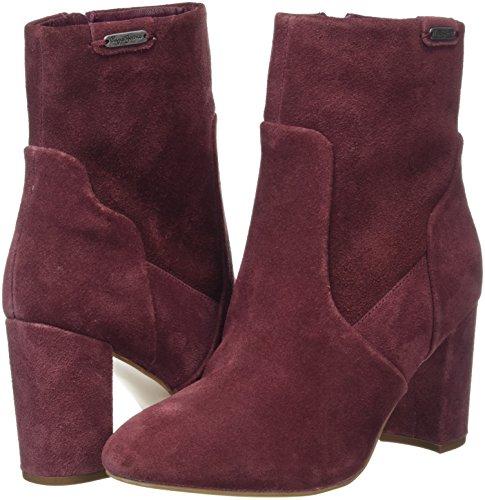 Pepe 299 De Zapatillas Jeans Mujer burgundy Por Dylan Para Estar Rojo Zip Casa 6BC6rwq
