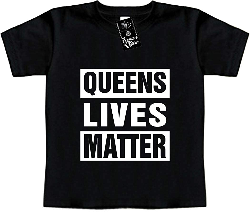 New York, NY Funny Baby T-Shirt Queens Lives Matter Toddler Tee