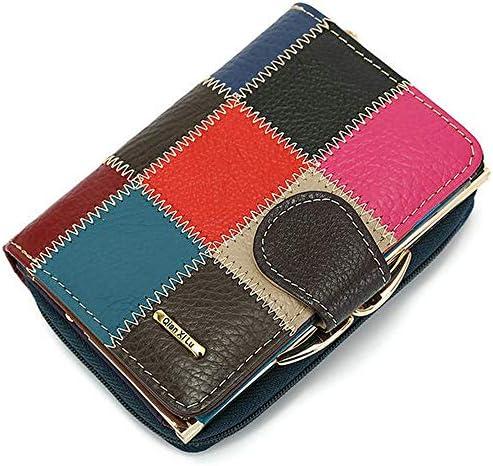 女性のための本革の色のジッパーの財布のバックル財布の財布クラッチバッグ YZUEYT