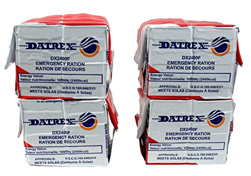 Datrex Emergency Survival 2400 Calorie Food Ration Bar (Pack of 4), 48 Bars ()