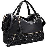 COOFIT Black Handbags for Women Black Purse and Handbags Pocketbooks Cute Purses for Women