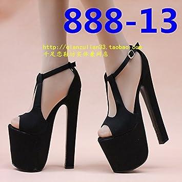 XiaoGao 18 cm filles super talon night shop,888-29 noir
