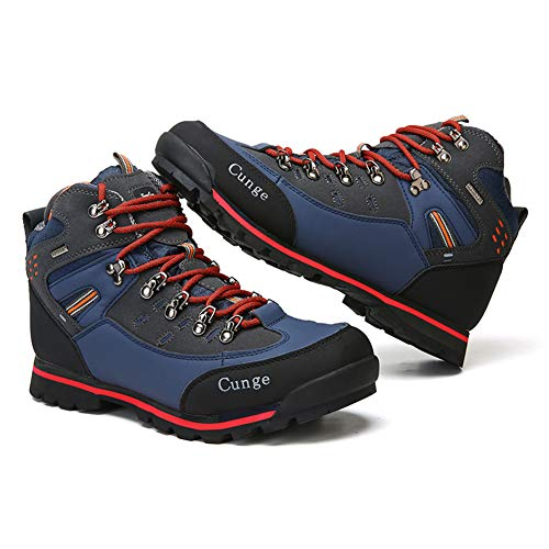 Pictures of CUNGE Hiking Boots Mens Waterproof Leather Trekking 2